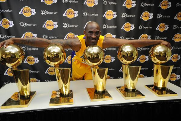 Kobe Bryant 5 NBA championships