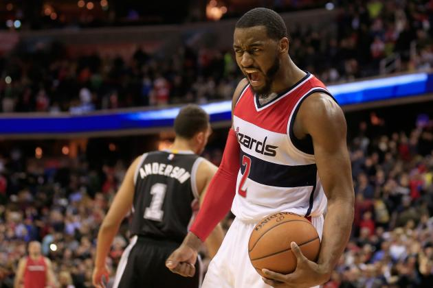 Washington Wizards Guard John Wall vs. The Spurs in NBA game