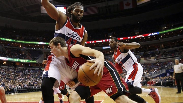 NBA Blog - Miami Heat's Goran Dragic drives against Washington Wizards