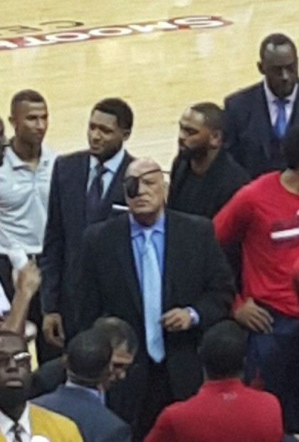 Possible future Interim Head Coach of the Wizards focused on the game