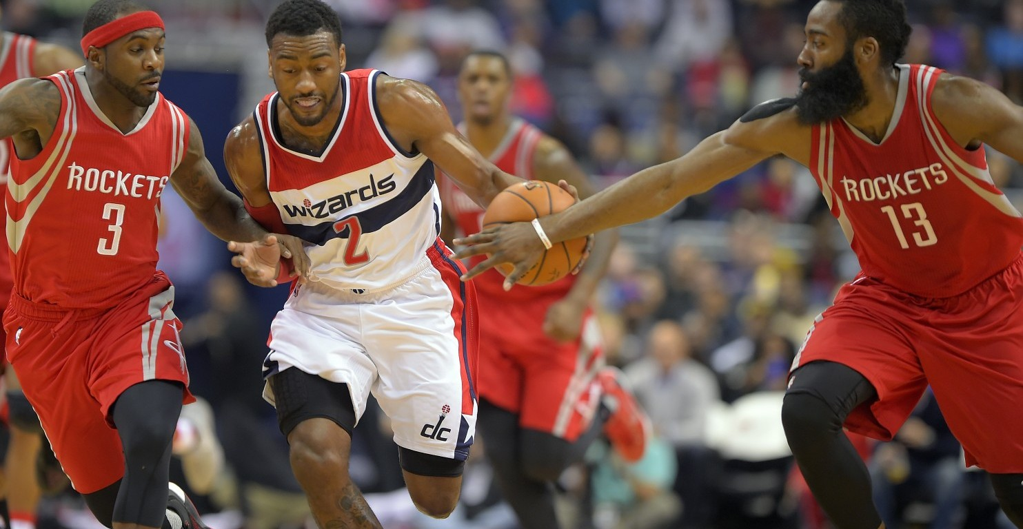 John Wall drives past Rockets defenders - Washington Wizards' NBA Blog