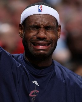 Washington Wizards' Blog - Lebron James cries on the sidelines