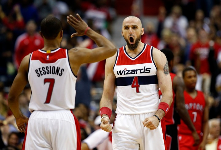 Washington Wizards' Blog - Marcin Gortat reacts to strong game against Toronto Raptors