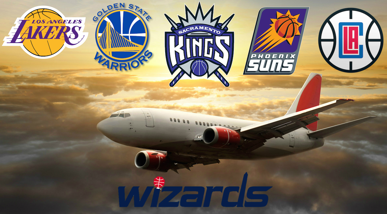 Washington Wizards Head West for 5 game trip
