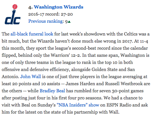 Washington Wizards - John Wall rising